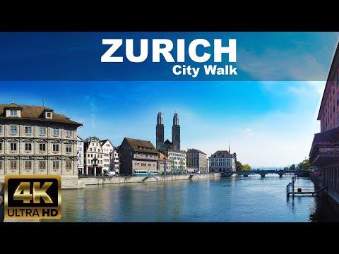 🇨🇭 Zürich City Walk |  4K UHD | ⛅ | SWISS - September 2020