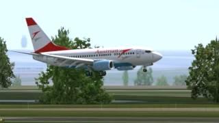 AUSTRIAN 737- 600 LANDING AT LINZ!!!!! FSX