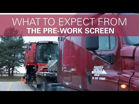 What to Expect from the Pre-work Screen