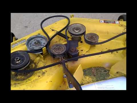 REPLACING A JOHN DEERE L130 MOWER DECK BELT