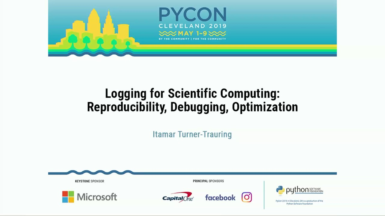 Image from Logging for Scientific Computing: Reproducibility, Debugging, Optimization