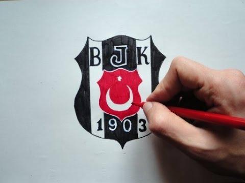 Beşiktaş Vodafone_Besiktas Logosu Nasil Cizilir (Ehedov Elnur) How To Draw Besiktas J.K Logo