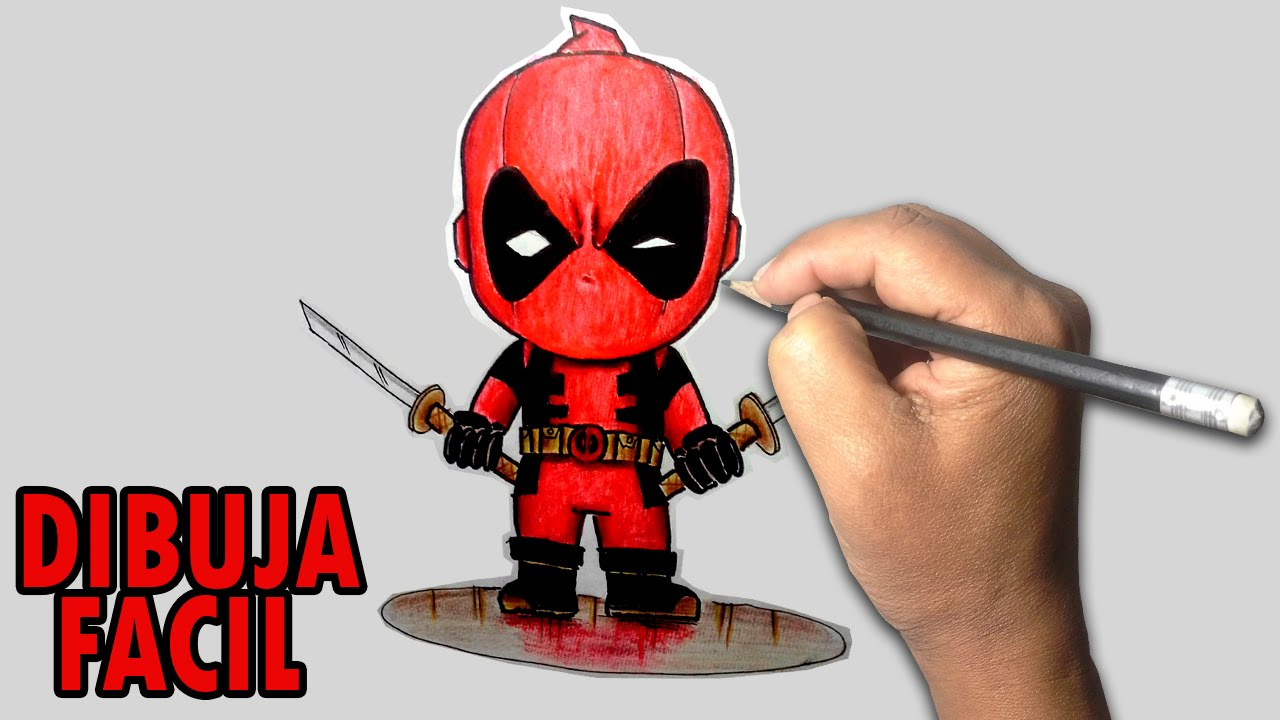 Dibujos De Deadpool: Como Dibujar A DEADPOOL (Chibi) Paso A Paso