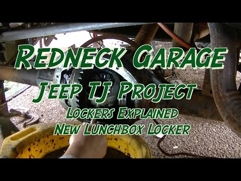 Jeep TJ Project - Lockers Compared  - Lunchbox Lockers And A New Flag