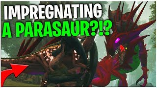 IMPREGNATING A PARASAUR! - ARK Survival Evolved | PLAY AS A DINO| Ep3
