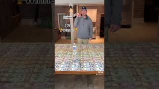 Money table bottle flip!
