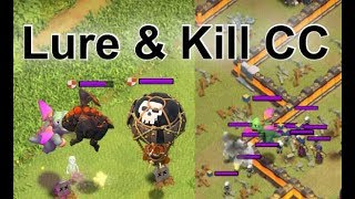 How to Lure & Kill CC Troops - Advanced Guide | Clash of Clans