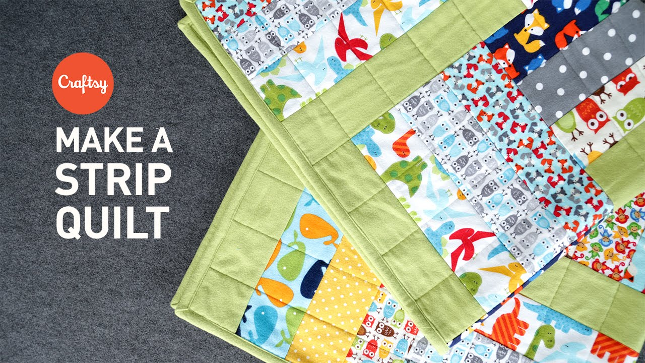 Strip Quilt Project Quick Easy Quilting Tutorial With Angela