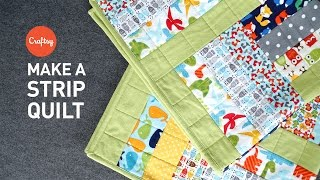 Strip quilt project (quick & easy!) | Quilting Tutorial with Angela Walters