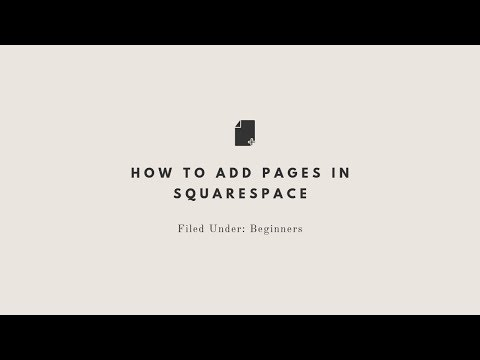 How to add pages to your Squarespace website (NO SOUND)