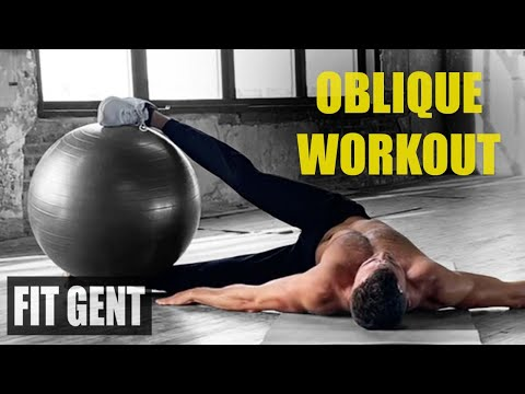 QUICK OBLIQUE WORKOUT FOR THE STABILITY BALL