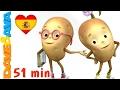 🌞 Сanciones Infantiles | Una Papa, Dos Papas | Videos Infantiles en Español de Dave y Ava 🌞