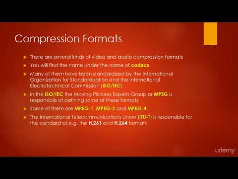 Web Video Editing and Production (Camtasia, PPT, Audacity) : Video Compressions