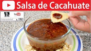 salsa de cacahuate   vicky receta facil