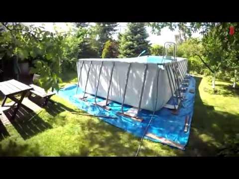bestway pool setup doovi. Black Bedroom Furniture Sets. Home Design Ideas