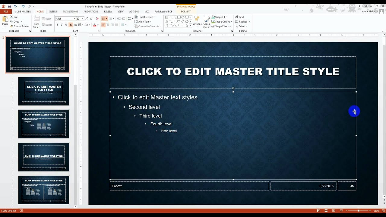 How To Create A Master Template In Powerpoint