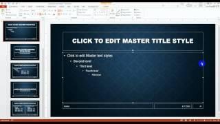 PowerPoint 2013 Slide Master Tutorial