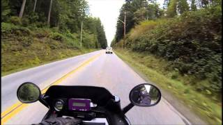 First electric motorcycle ride with the AC 20 motor.