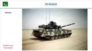 Al-Khalid vs T-84, Main Battle Tank Key features comparison