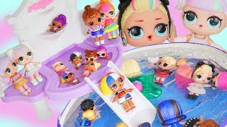 Barbie Doll Pool Party with LOL Doll Surprise Brothers Under Wraps