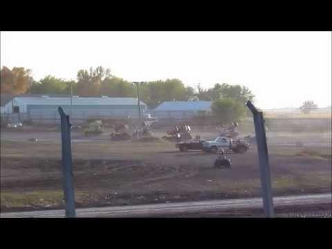9-29-12 imca sprint car mechanics race at Arlington Raceway, MN