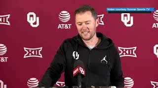OU Football: Lincoln Riley talks Texas