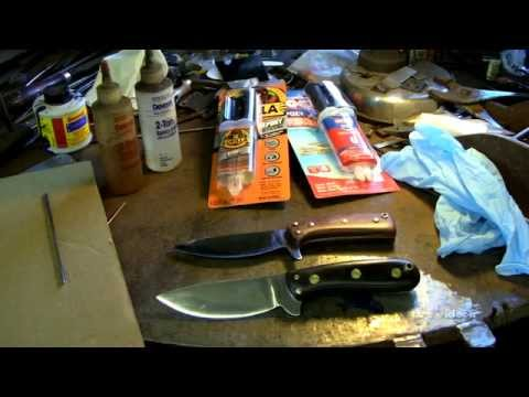 Knife making for beginners - How to epoxy bushcraft knife handles
