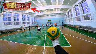 FULL MATCH VOLLEYBALL FIRST PERSON GAME LIKE HAIKYUU IN REAL LIFE | 5 sets game | #85 episode