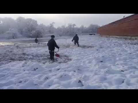 Приколы в армии. Косят снег
