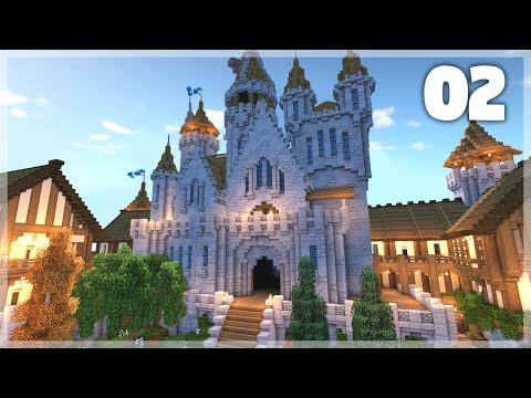 Minecraft: How To Build A Medieval Castle | Huge Medieval Castle Tutorial - Part 2