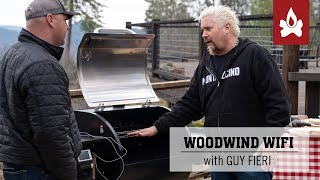 Guy Fieri cooking on the new Camp Chef Woodwind
