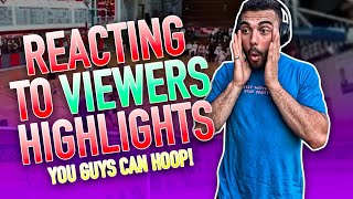 Reacting To INSANE Fan Basketball Highlights !! (Ankle Breaker)