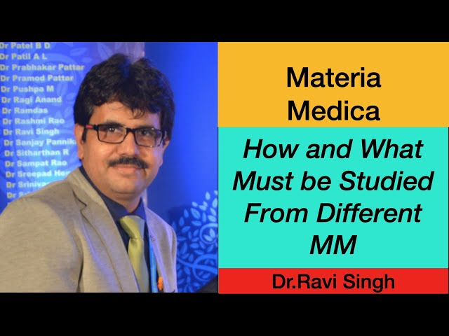 How and What Must be studied from Different Materia Medica Zoom - Dr.Ravi