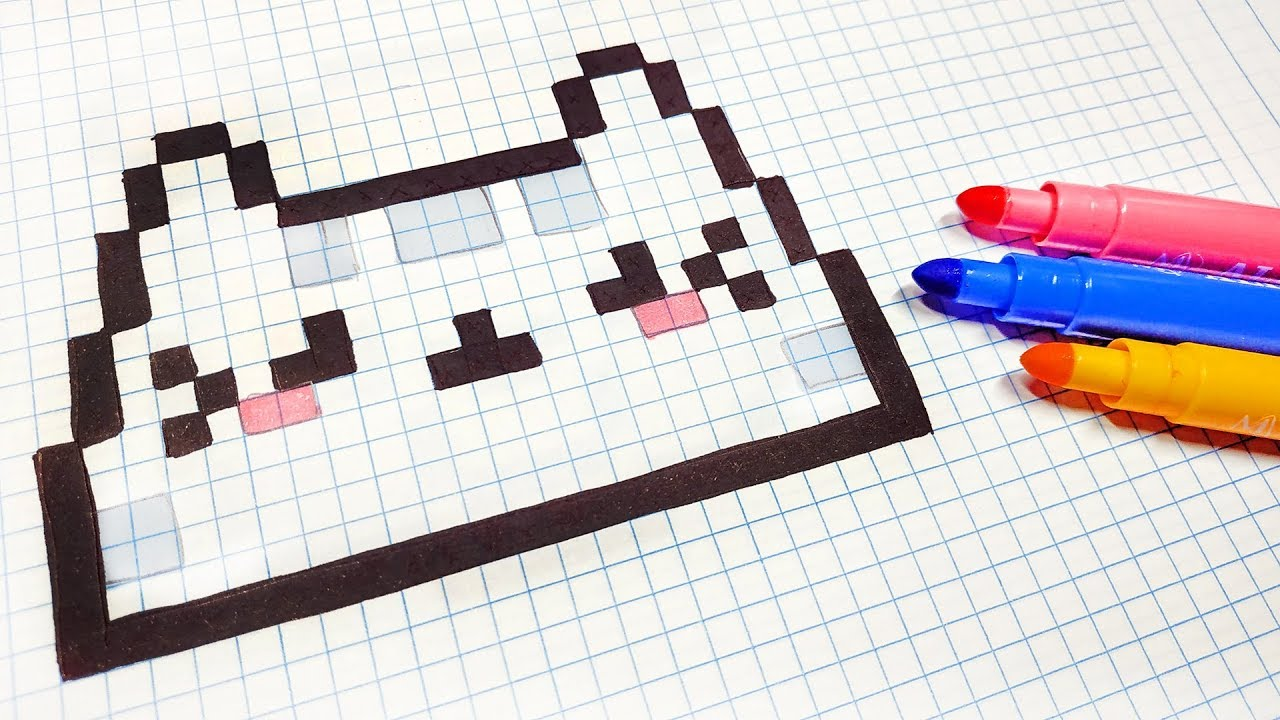 Handmade Pixel Art How To Draw A Kawaii Cat Pixelart
