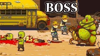 BOSS с КРЮКОМ от КРАНА Dead Ahead Zombie Warfare выживание на школьном автобусе против Зомби #4