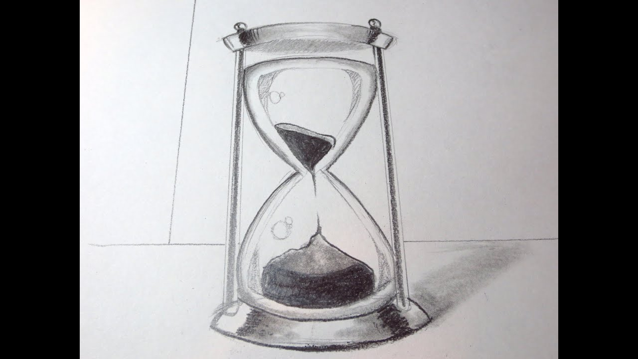 Hourglass drawing  How To Draw An Hour Glass - YouTube