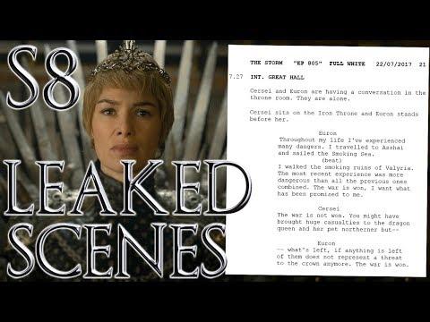 SEASON 8 Leaked Scenes ! New Leaked Scripts !!!  Game of Thrones