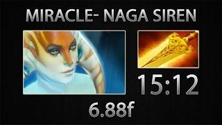 Dota 2 Naga Siren Fast Farm - Miracle- - Radiance - 15:12 [6.88f]