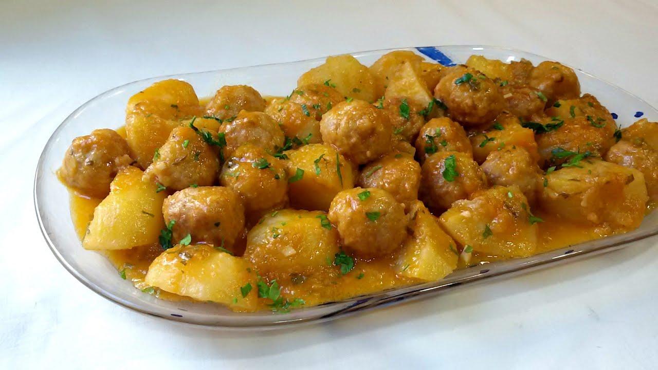 Alb ndigas con patatas youtube - Albondigas de patata ...