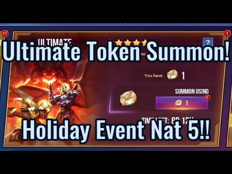 Ultimate Token Summon! Guaranteed Nat 5!! | Dungeon Hunter Champions