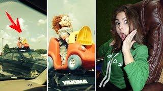 ПОПРОБУЙ НЕ ЗАСМЕЯТЬСЯ ЧЕЛЛЕНДЖ! СМЕШНЫЕ ФОТО ПРИКОЛЫ из жизни!! Кукла Чаки на крыше автомобиля!