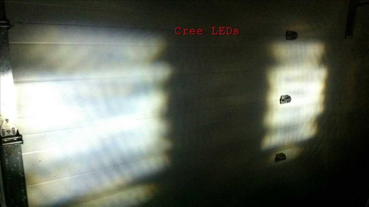 5w Cree Led Reverse Lights Vs Stock Halogen Reverse Lights