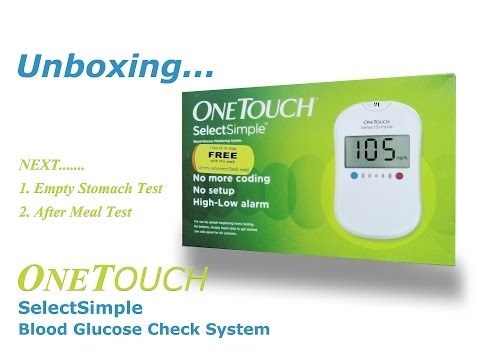 One Touch Simple Select Blood Glucose Check