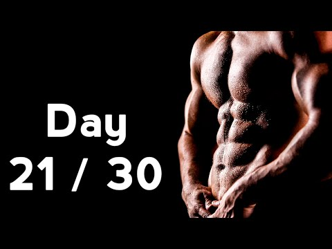 30 Days Six Pack Abs Workout Program Day: 21/30