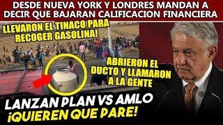 Obrador descubre un plan para detener la distribución de gasolina, ahora usan a la gente