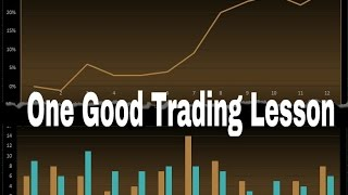 Forex Trading: 1 Good Trading Lesson