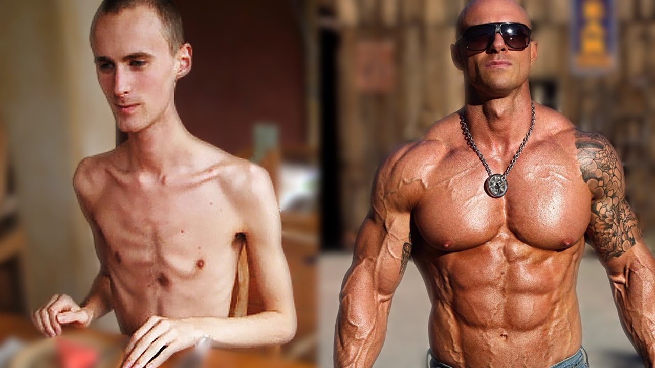 from skinny to strong muscular - best fitness body transformations, Muscles