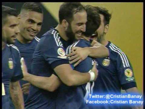 Argentina 4 Estados Unidos 0 (Relato Walter Nelson)  Copa America Centenario 2016