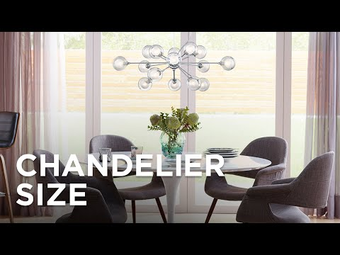 Chandelier Size Guide - How To Choose The Right Size Chandelier - Lamps Plus