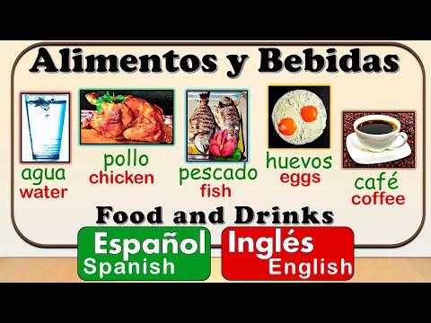 Food And Drinks In Spanish | Basic Spanish Vocabulary | Comida Y Bebidas En Español | Vocabulario